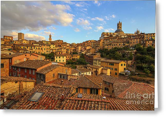 Siena Sunset Greeting Card by Spencer Baugh