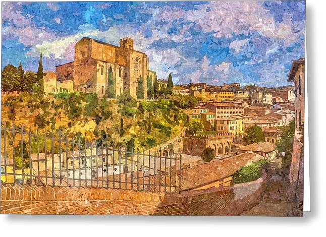 Siena , Italy Greeting Card by Nikolay Ivanov