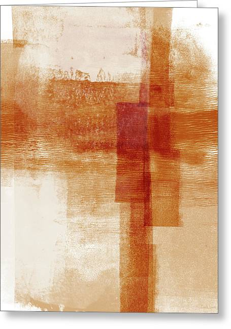 Sienna 1- Abstract Art By Linda Woods Greeting Card