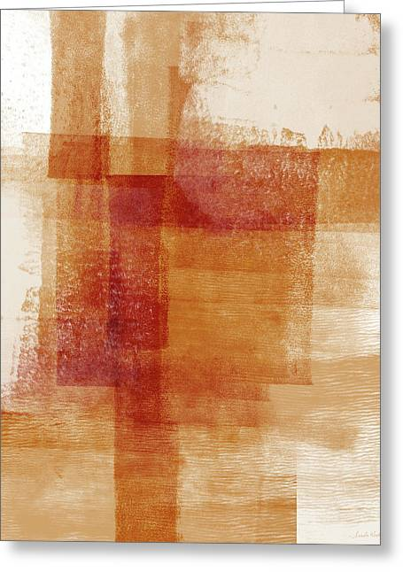 Sienna 2- Abstract Art By Linda Woods Greeting Card