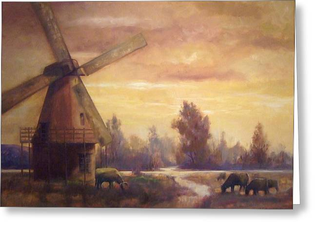 Sienna Mill Greeting Card by Ruth Stromswold