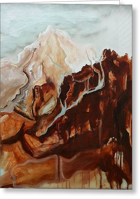 Sienna Mountains Greeting Card by Sky Schulz