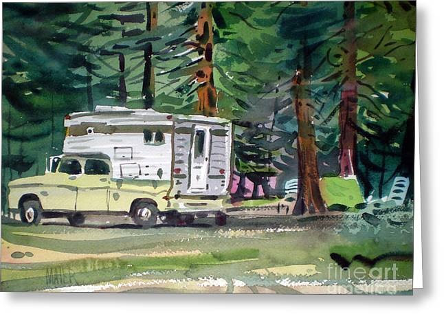 Sierra Campsite Greeting Card by Donald Maier