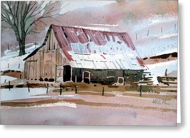 Sierra Foothills Barn Greeting Card by Donald Maier