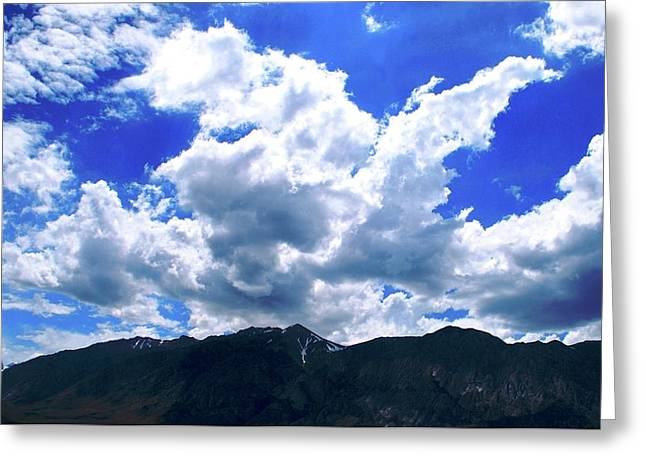Sierra Nevada Cloudscape Greeting Card