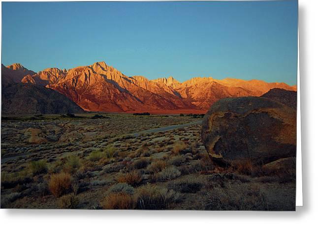 Sierra Nevada Sunrise Greeting Card