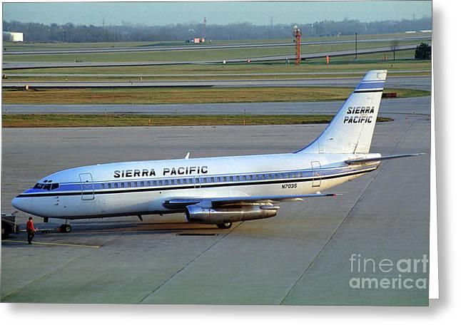 Sierra Pacific Airlines Boeing 737, N703s Greeting Card