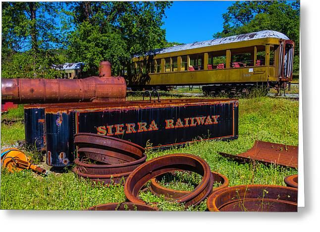 Sierra Railway Boneyard Greeting Card