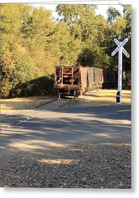 Sierra Railway Hoppers Greeting Card by Troy Montemayor