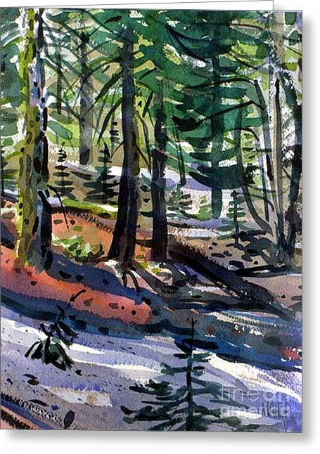 Sierra Snowdrifts Greeting Card by Donald Maier