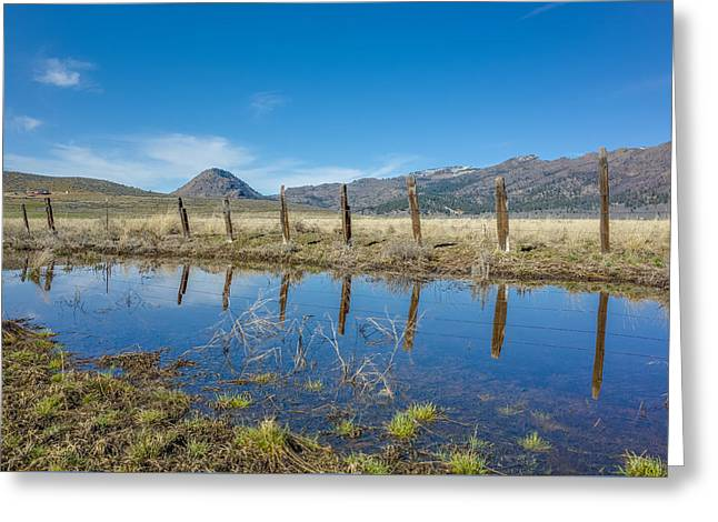 Greeting Card featuring the photograph Sierra Valley Spring Reflection by Scott McGuire