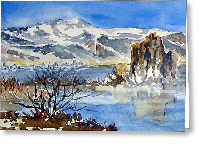 Greeting Card featuring the painting Sierra View by Pat Crowther