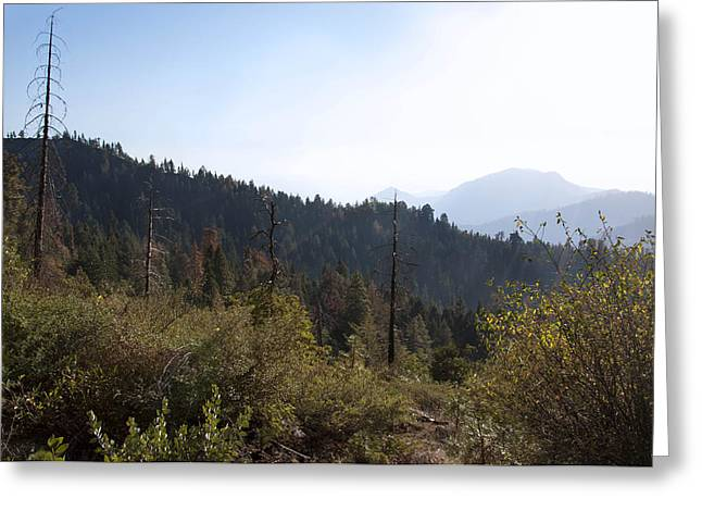 Greeting Card Featuring The Photograph Sierras Before Sunset By Kimberly  Valentine