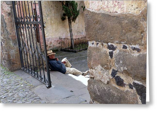 Siesta In Patzcuaro Greeting Card
