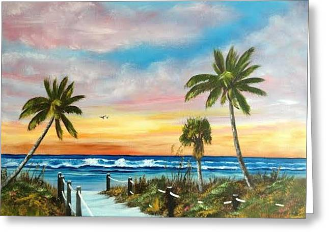 Siesta Key At Sunset Greeting Card