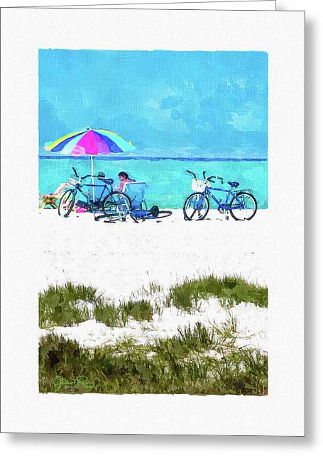 Siesta Key Beach Bikes Greeting Card