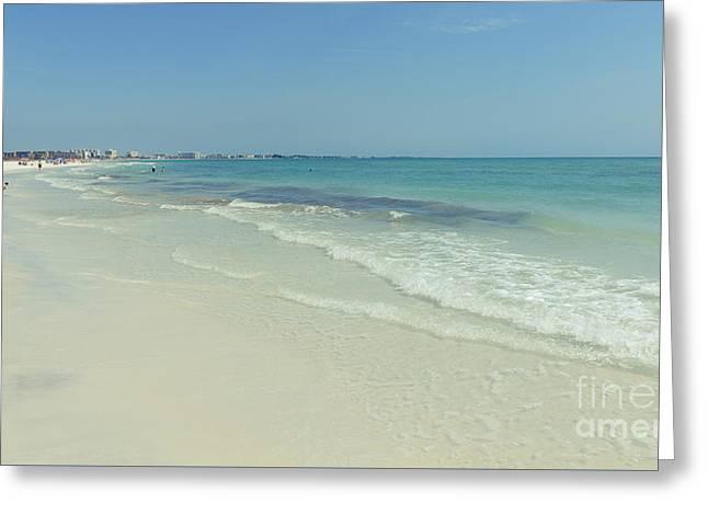 Siesta Key Beach Florida Greeting Card by Edward Fielding