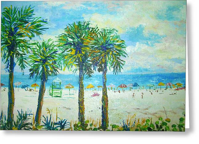 Siesta Key Beach Greeting Card by Lou Ann Bagnall