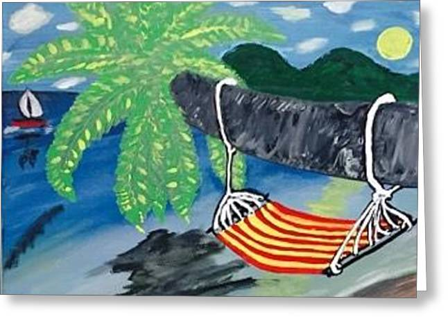 Siesta Key Florida Painting. Original Acrylic Painting On Canvas. Greeting Card