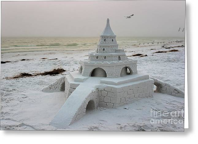 Siesta Key Sandcastle Greeting Card by Liesl Walsh