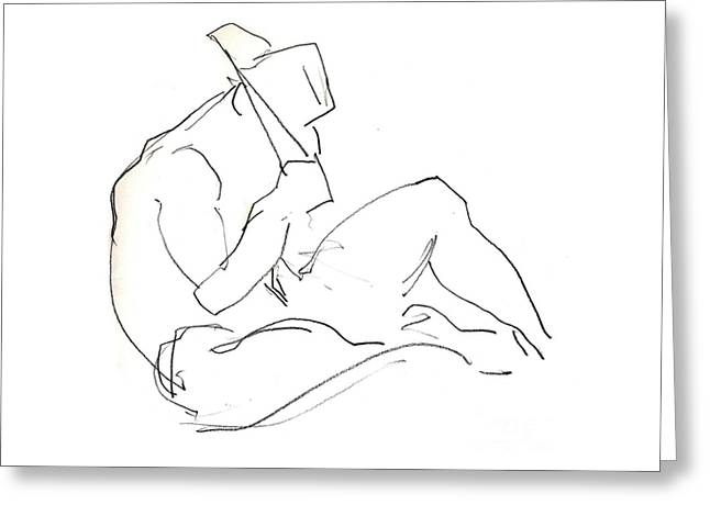 Siesta - Male Nude Greeting Card