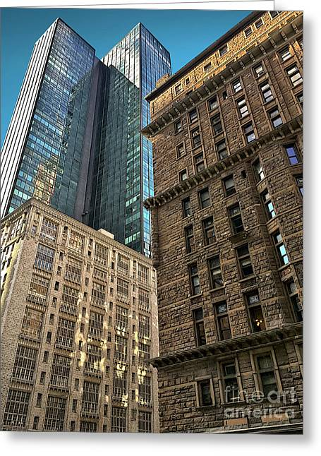 Greeting Card featuring the photograph Sights In New York City - Old And New 2 by Walt Foegelle
