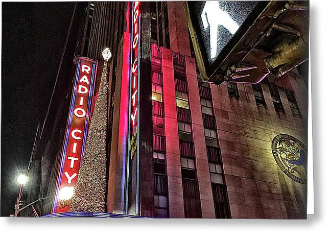 Greeting Card featuring the photograph Sights In New York City - Radio City by Walt Foegelle