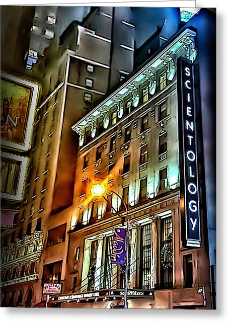 Greeting Card featuring the photograph Sights In New York City - Scientology by Walt Foegelle
