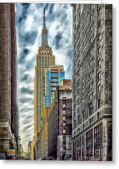 Greeting Card featuring the photograph Sights In New York City - Skyscrapers 10 by Walt Foegelle