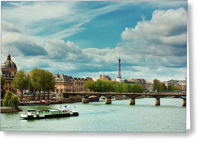 Sightseeing On The River Seine Greeting Card