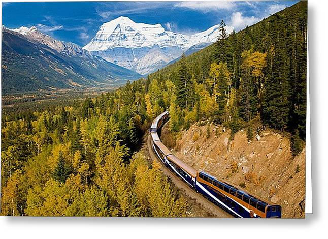 Sightseeing Thru Canadian Rockies Greeting Card