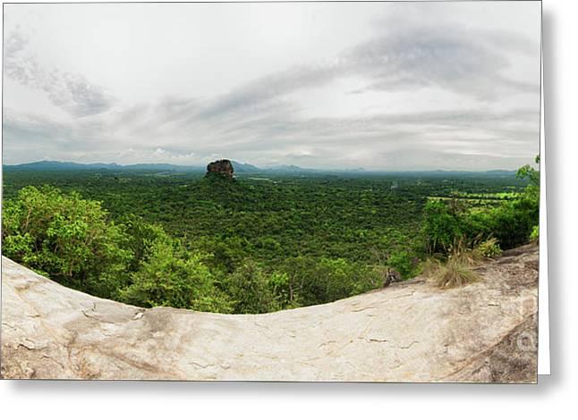 Sigiriya Panorama Greeting Card by Venura Herath