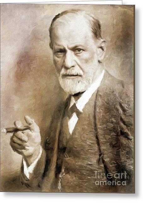 Sigmund Freud, Neurologist By Mary Bassett Greeting Card