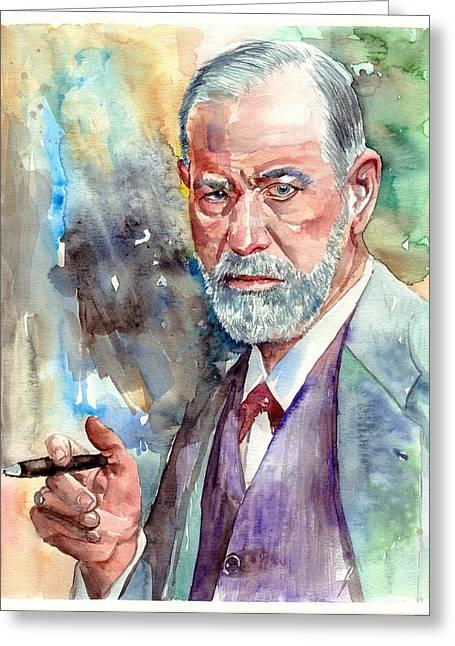 Sigmund Freud Portrait Greeting Card