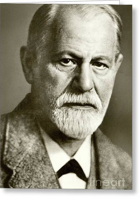 Sigmund Freud The Founder Of Psychoanalysis Greeting Card