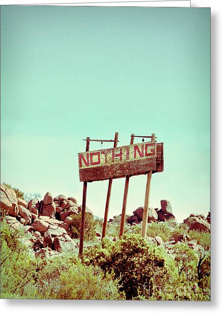 Sign For Nothing Greeting Card