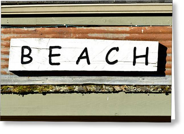 Sign Of A Beach Greeting Card