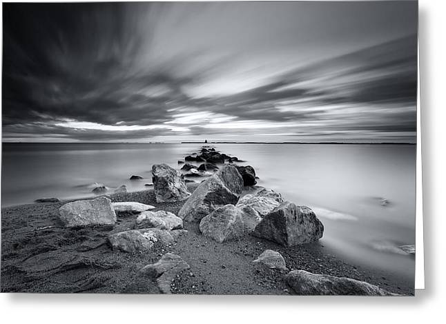 Signature In Black And White Redux Greeting Card by Edward Kreis