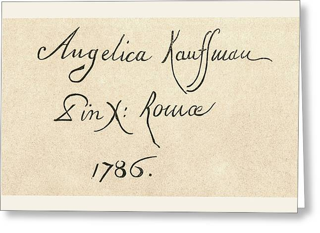 Signature Of Maria Anna Angelika Or Greeting Card by Vintage Design Pics