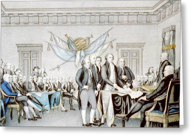 Signing The Declaration Of Independence Greeting Card by American School
