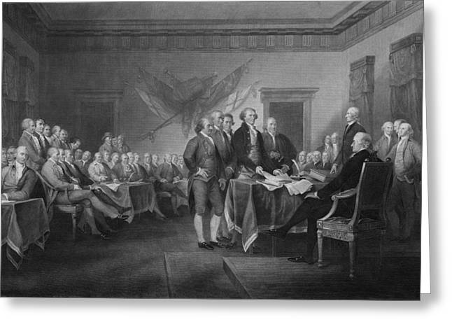 Memorial Greeting Cards - Signing The Declaration of Independence Greeting Card by War Is Hell Store