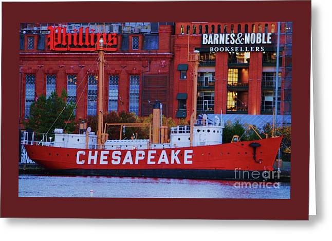 Signs At The Inner Harbor, Baltimore Greeting Card by Poet's Eye