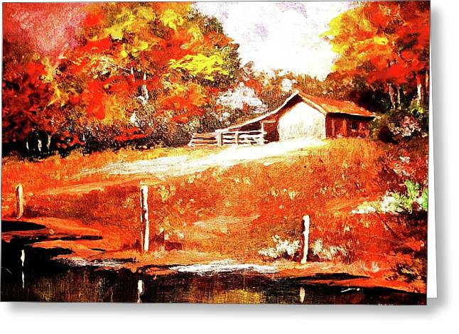 Signs Of Autumn Greeting Card