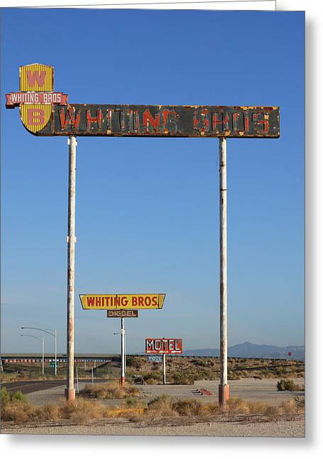 Signs Yucca Az Greeting Card by Troy Montemayor