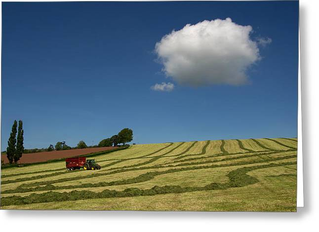 Silage Making  Greeting Card