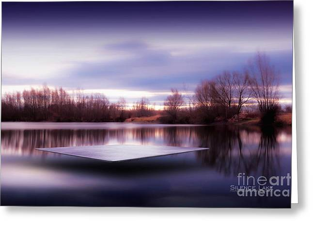 Greeting Card featuring the photograph Silence Lake  by Franziskus Pfleghart