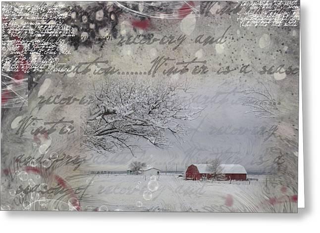 Silence Greeting Card by Nadine Berg