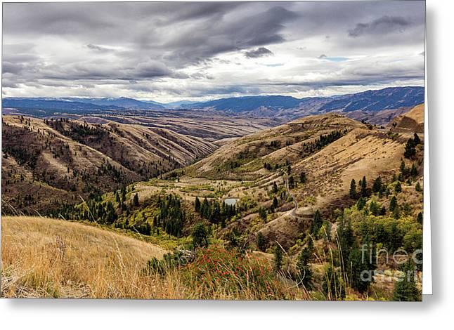 Silence Of Whitebird Canyon Idaho Journey Landscape Photography By Kaylyn Franks  Greeting Card
