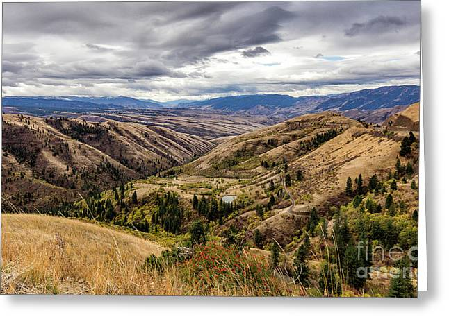 Silence Of Whitebird Canyon Idaho Journey Landscape Photography By Kaylyn Franks  Greeting Card