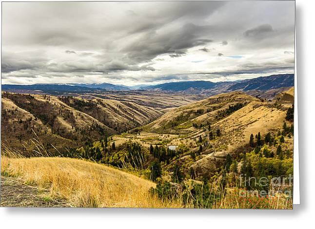 Silence Of Whitebird Canyon Idaho Landscape Art By Kaylyn Franks Greeting Card by Kaylyn Franks